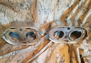 1959 59 Chrysler Imperial Front Fender Chrome Headlight Housings Lh Rh Mopar Oem