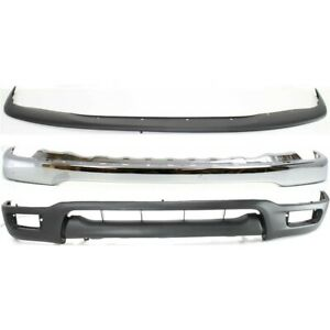 Bumper Face Bar Kit Chrome Front For Tacoma To1002174 To1087112 To1095196