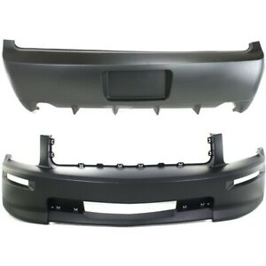 Fo1000614 Fo1100660 Set Of 2 Bumper Covers Front Rear For Ford Mustang Pair