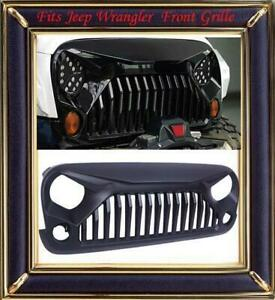 Front New Abs Plastic Front Grill Grille Black Fit For Jeep Wrangler 2007 18 Jk