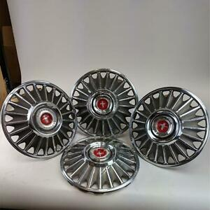 Ford Mustang Hubcaps Vintage 1967 Wheel Cover Standard 14 Red Center Cap 4 Pcs