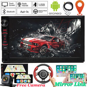 Fit Chevy Silverado 1500 Android 2 Din Gps Car Stereo Radio Player Bluetooth Cam