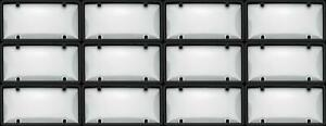Cruiser 60510 License Plate Cover Black Clear Plastic 12 Pack