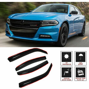 For 2006 2010 Dodge Charger 4pcs In Channel Rain Guard Vent Shade Window Visors