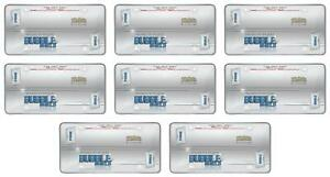 Cruiser 72100 License Plate Cover Bubble Shield Clear Acrylic 8 Pack
