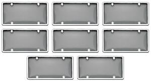 Cruiser 60320 License Plate Cover Smoke Acrylic 8 Pack
