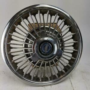 Ford Galaxie Mustang 1965 1967 Vintage 14 Hubcaps With Spinner Wire Spoke Style