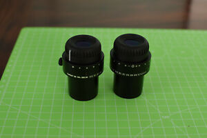 Pair Of Wild Leica 10x 21 Microscope Eyepieces D 23mm