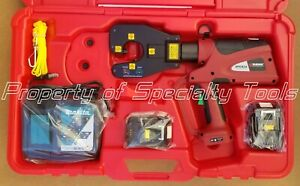 Burndy Pat4pc834li Hydraulic Battery Operated Dieless Crimper Crimping Tool New