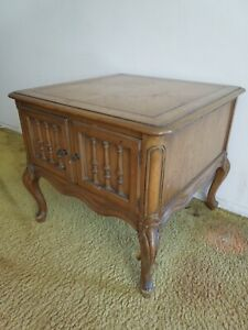 3 Weiman Heirloom Carved Solid Wood Marble Console Side End Tables French Style
