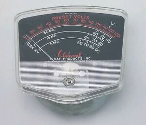 Vintage Steel Panel Preset Voltage Guage Meter Universal X ray Products Chicago