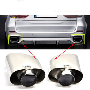 Car Exhaust Tips For Bmw X5 E53 E70 2000 2013 Stainless Steel Tail Muffler Pipe