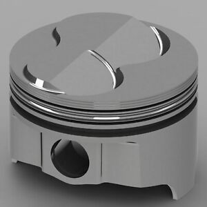 Icon Forged Piston Set Fits Chevy 327 Rod 5 700 Dome 6 3cc 2v