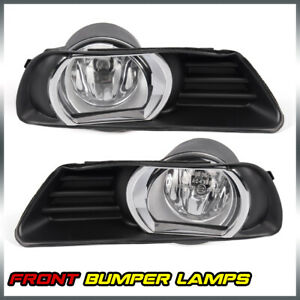 Clear Left Right Bumper Fog Lights W Switch Kit For 2007 2009 Toyota Camry