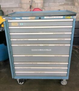 Lista 9 Drawer Steel Heavy Duty Parts tool Cabinet 42 X 23 X 54
