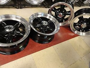 15 X 8 Chevy Gmc 1500 Truck Black Torq Legend Wheels 15x8 Mag C10 5on5 5x5 Rims
