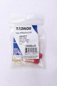 Qty 5 radnor Medium Tig Gas Lens 45v27 Collet Body 1 8 For Radnor 17 18 26