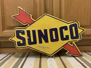 Sunoco Gas Oil Vintage Style Motor Car Truck Bar Pub Wall Decor Arrow Pump