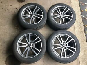 Ford Mustang 2015 Up Rims And Snow Tires Michelin 235 50 R18 W Tmps Transm