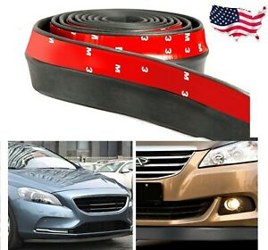 Samurai 8 3 Car Front Bumper Lip Splitter Body Side Spoiler Skirt Universal