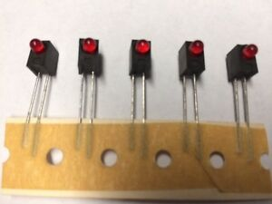 X2 5655f1 Red Led Circuit Board Indicator Right Angle 2v 10ma Nos