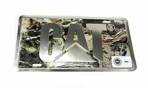 Caterpillar Camouflage Aluminum License Plate