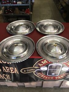 1957 Oldsmobile Olds 88 Hubcap Wheelcover Set 4 88 98 Fiesta 14