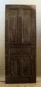 30 X79 Antique Vintage Victorian Old Solid Wood Wooden Interior Door 5 Panels