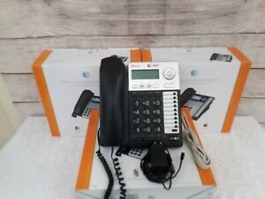 Lot Of 4 At t 1040 4 line Small Business System Phones W Stands Handsets