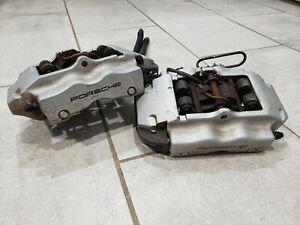 04 06 Porsche Cayenne Pair Of 2 Brembo Rear Calipers Assembly Oem 4 Piston