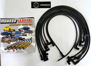 Moroso Sbc Chevy 305 350 Spark Plug Wires Hei 90 Degree Boots Hei Under Header