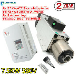 7 5kw 380v Air Automatic Tool Changer Iso30 Atc Spindle Motor Milling 7 5kw Vfd