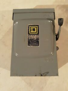 Square D D222nrb Safety Switch
