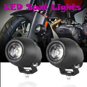 2x Cree Led Spot Light Bar Round 6000k Driving Pods Offroad Atv Motorycyle 4wd