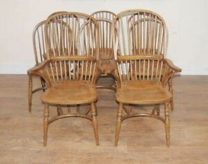 Set Windsor Kitchen Chairs Farmhouse Dining Chair