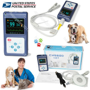 Animal Vet Veterinary Pulse Oximeter Cms60d vet tongue Spo2 Probe pc Sw Us Fda