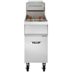 Vulcan 1gr45m Full Pot Floor Model Gas Fryer