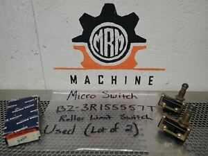 Micro Switch Bz 3r155557t Roller Limit Switches Used With Warranty lot Of 2