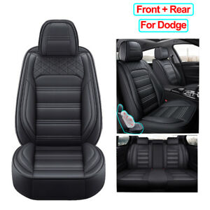 Universal Pu Leather Car Seat Cover Full Set Fit For Dodge Charger Durango Dart