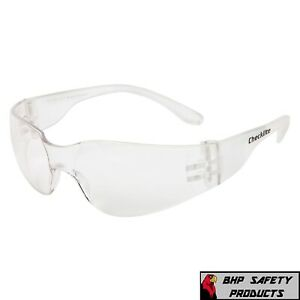 144 Pair Lot Protective Safety Glasses Clear Lens Work Uv Ansi Z87