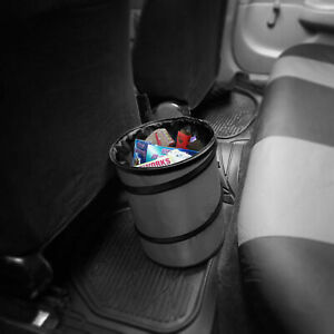 Auto Car Trash Can Portable Collapsible Waterproof Large Gray