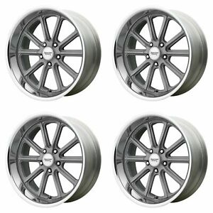 4x Vn507 Rodder Vintage Silver Diamond Cut 5x4 75 5x120 65 0 Wheels 20x9 5 18x8