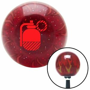 Red Grenade W Pin Red Flame Metal Flake Shift Knob W M16x1 5 Insert Shifter