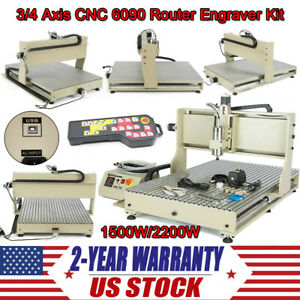 Usb 4 Axis 1 5kw 2 2kw 6090 Cnc Router 3d Engraver Engraving Carving Machine Ups