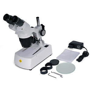 Swift Binocular Stereo Microscope 20x 40x 80x Forward Lab For Student Science