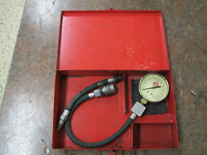 Mac Tools 37089 Engine Compressor Tester Gauge Usa In Metal Box
