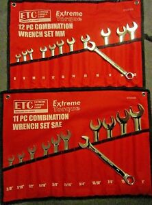Special 2 Six Point Combination Wrench Sets Sae 3 8 To 1 Metric 8 19 Mm 6 Pt