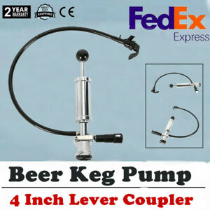 Heavy Duty D system Beer Party Pump Picnic Keg Tap 4 Inch For Homebrew Us Stock