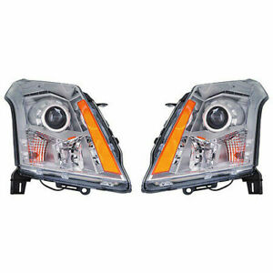 For Cadillac Srx 2010 2011 2012 2013 Headlight Halogen Only Right Left Pair