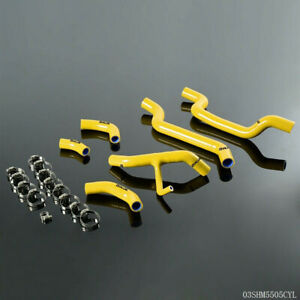 Silicone Radiator Coolant Hose Free Clamps Kit For 2007 2009 Ducati 1098